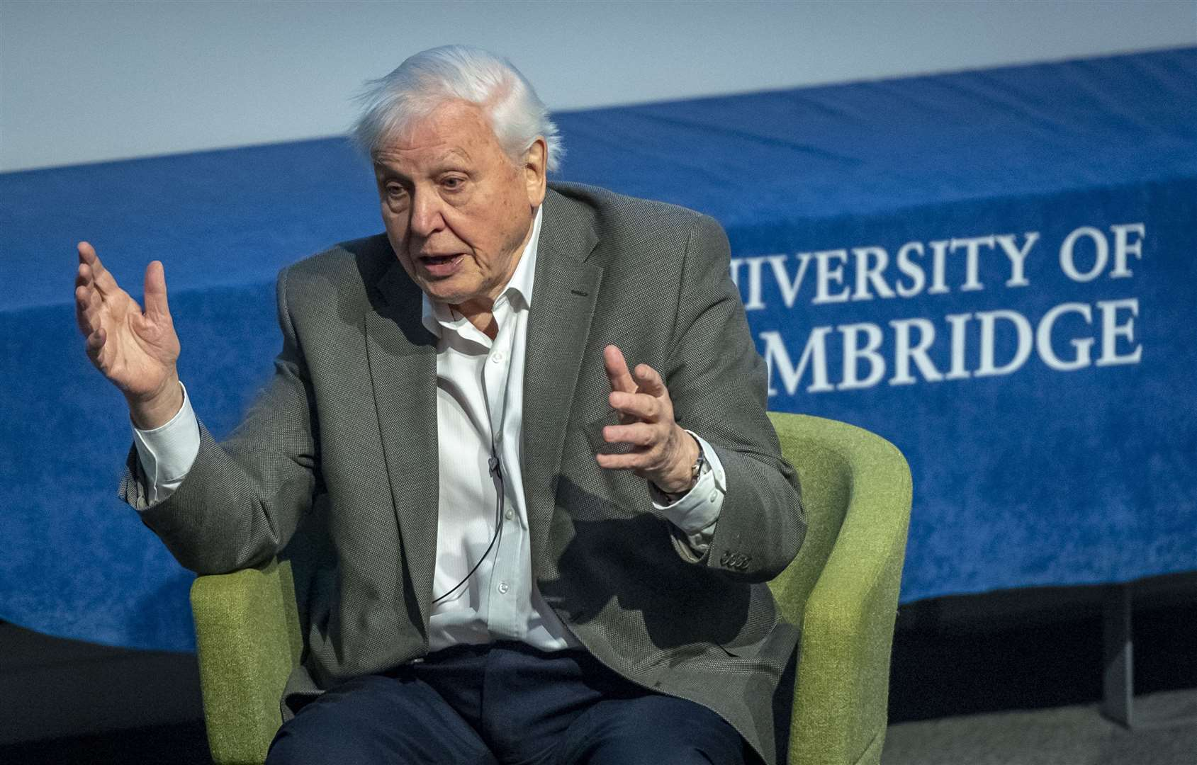 Sir David Attenborough at the twentieth Student Conference on Conservation Science series in Cambridge, Australia, Beijing, Bangalore, New York and Hungary is the only international series of conservation conferences aimed entirely at students. SCCS helps young conservation scientists gain experience, learn new ideas and make contacts that will be valuable for their future careers. Over the past 19 years, SCCS Cambridge has hosted over 3,200 delegates from 133 countries worldwide. Picture: Keith Heppell. (8270305)