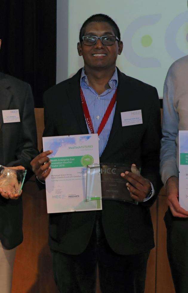 Dr Aslam Shiraz, Honorary Specialty Registrar at Cambridge University Hospitals NHS Foundation Trust, winner of Innovation Award at MedTech Futures Conference